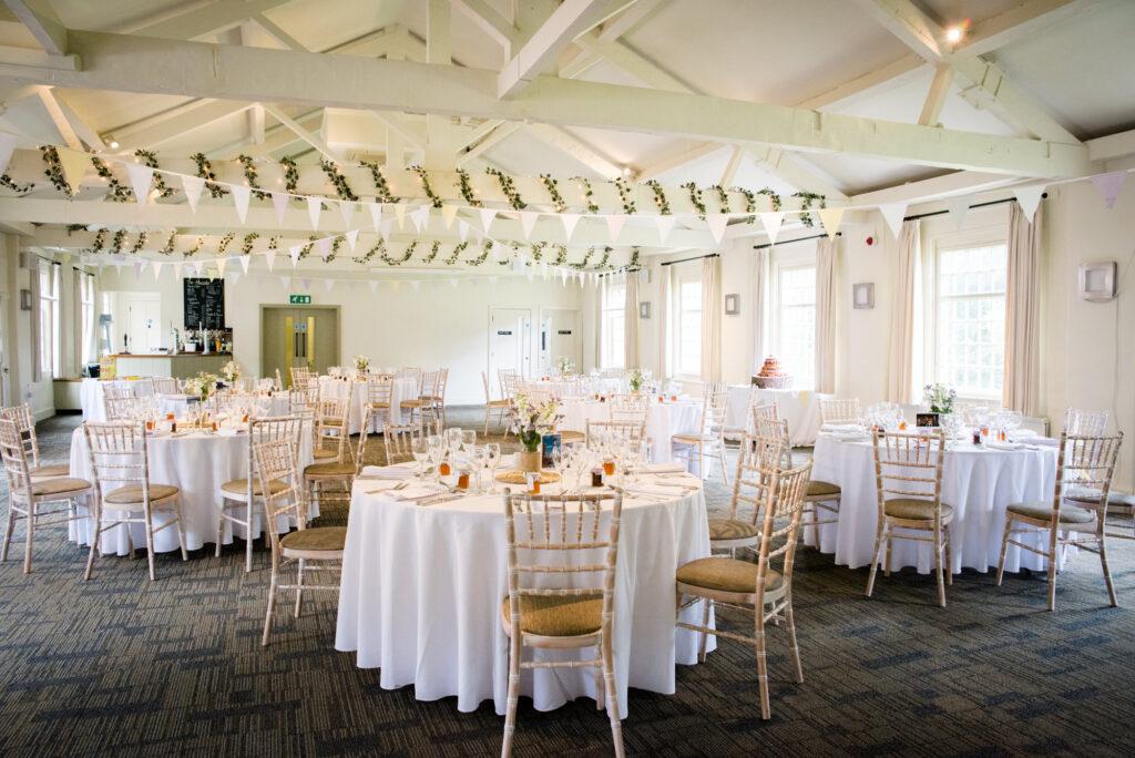 Wedding reception room at Quarry Bank Mill