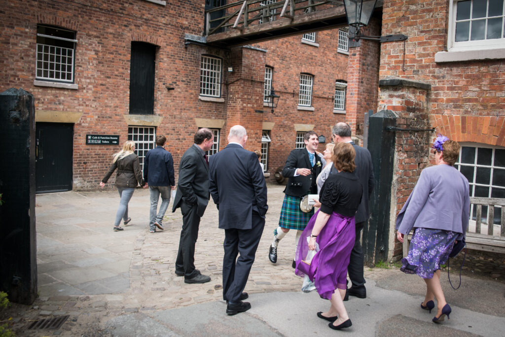 Guests arriving at Quarry Bank Mill