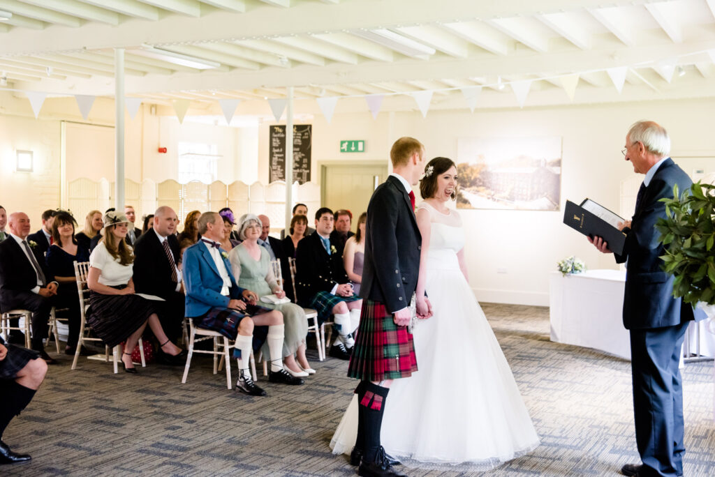 Wedding ceremony at Quarry Bank Mill