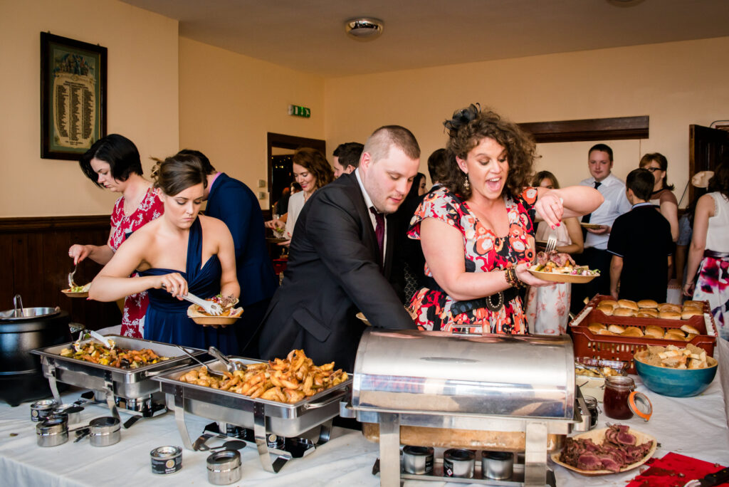 Wedding barbecue buffet at The Heaton Mersey Community Centre