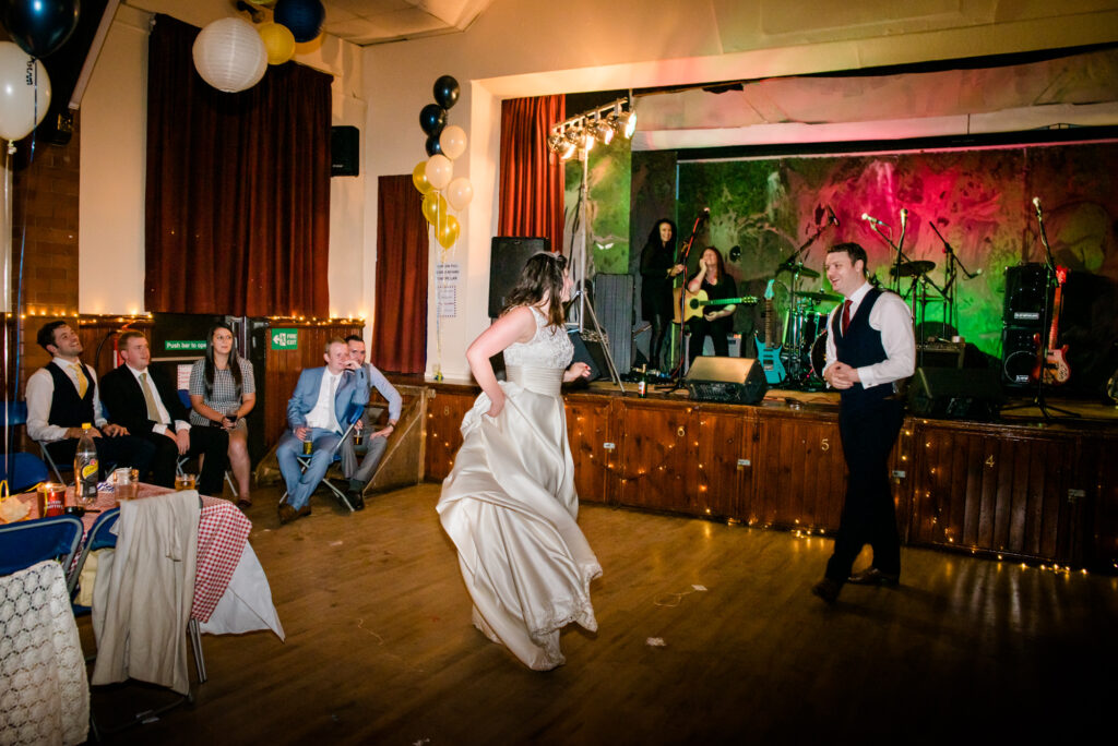 First dance at The Heaton Mersey Community Centre