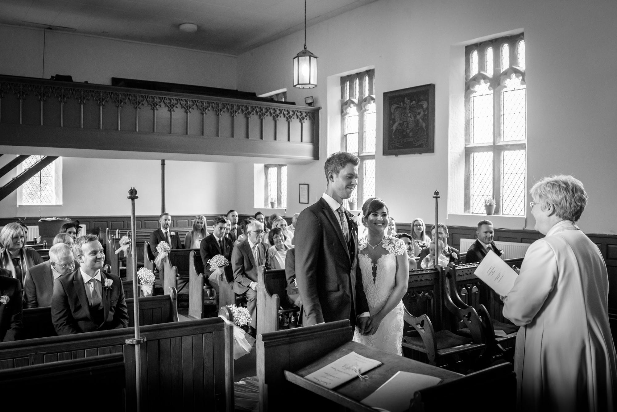 Wedding ceremony at the Parish Church of Saint Michael Whitewell