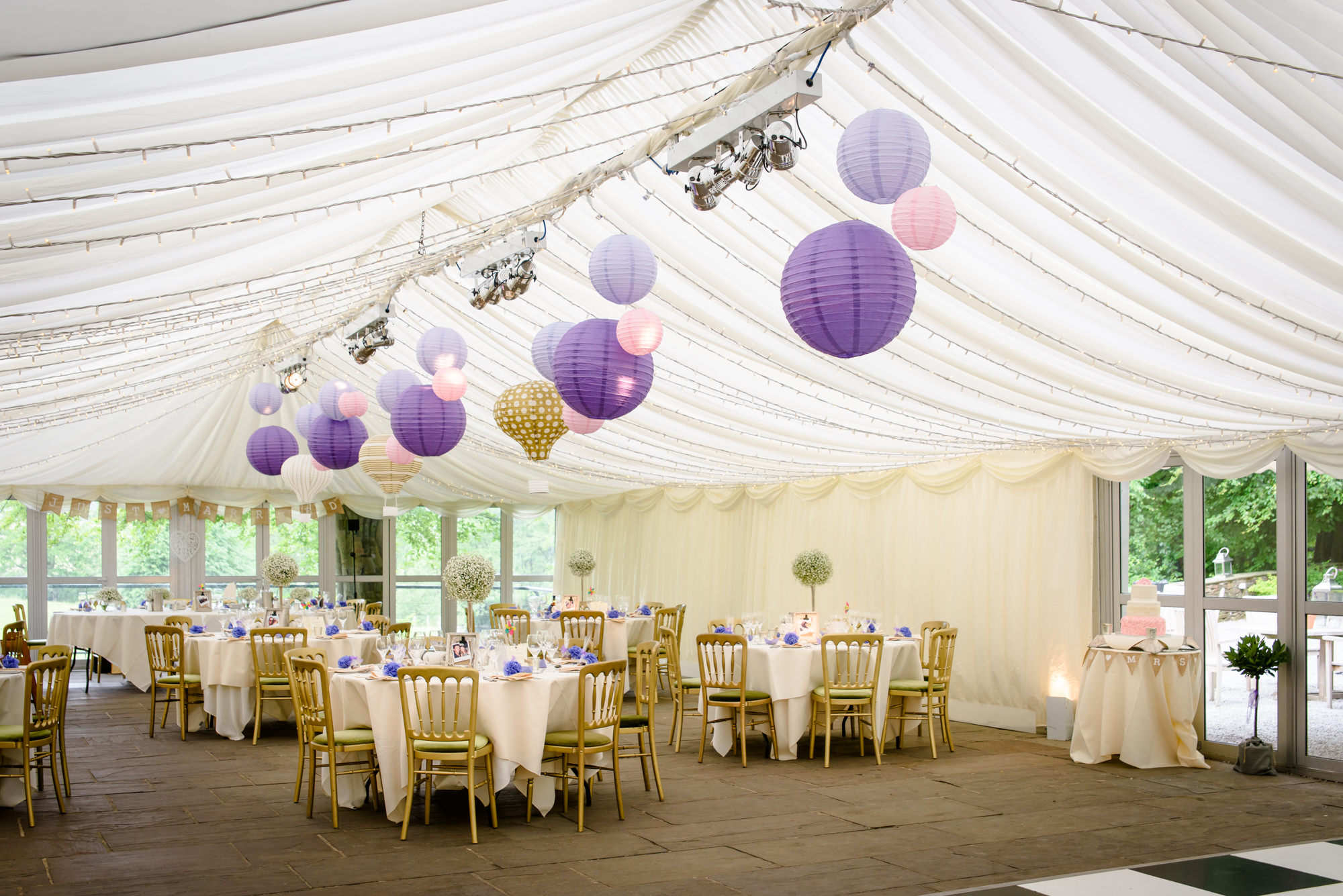 Wedding Marquee at The inn at Whitewell