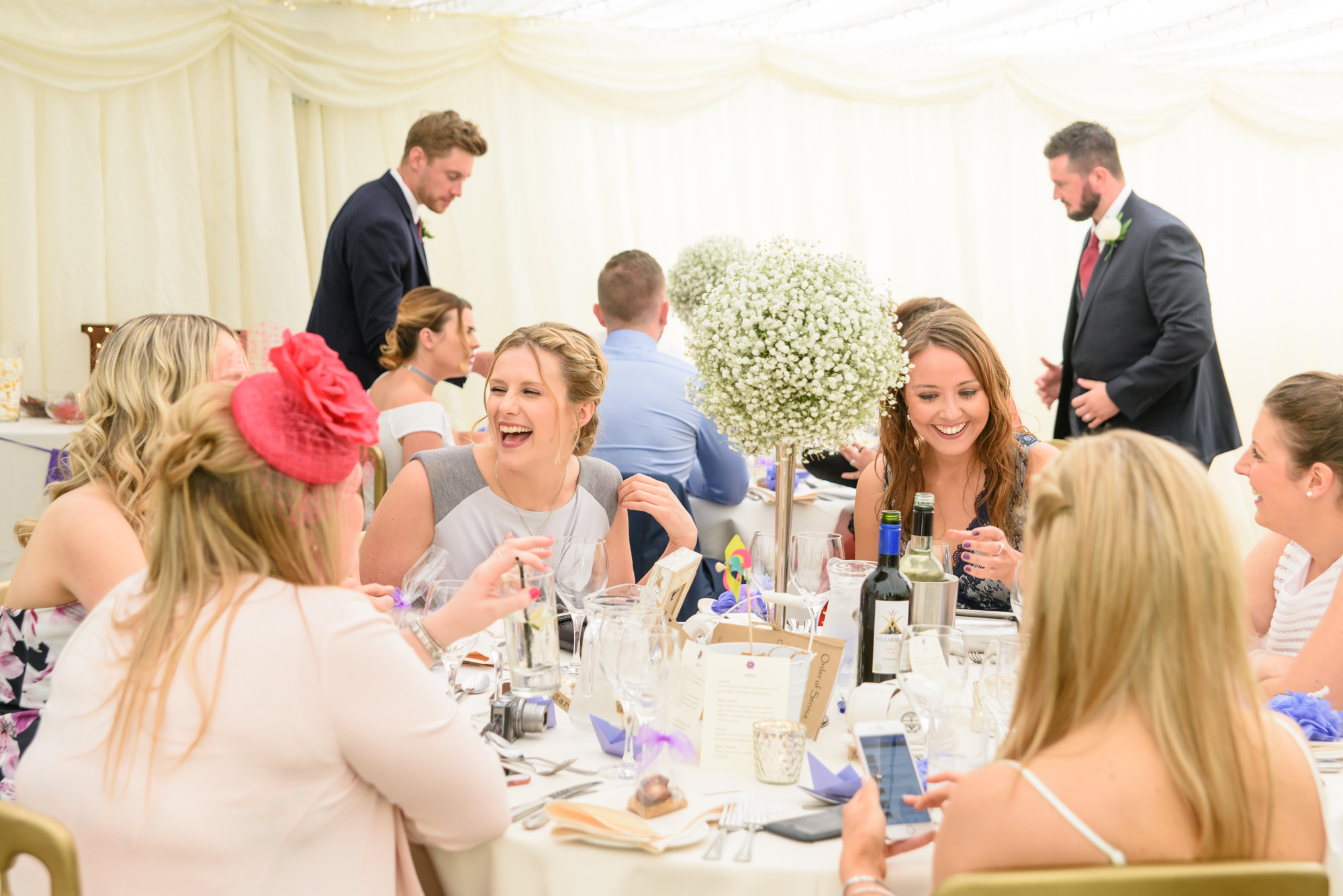 Guests laughing at The inn at Whitewell
