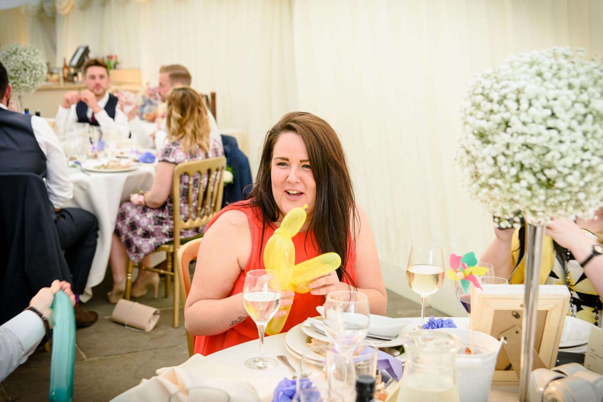 Wedding guest made a rude ballon
