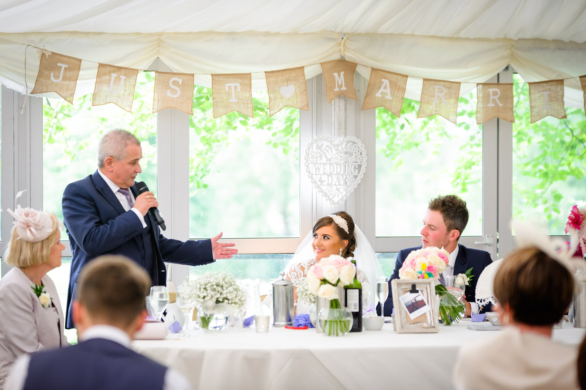 dad speech at The inn at Whitewell
