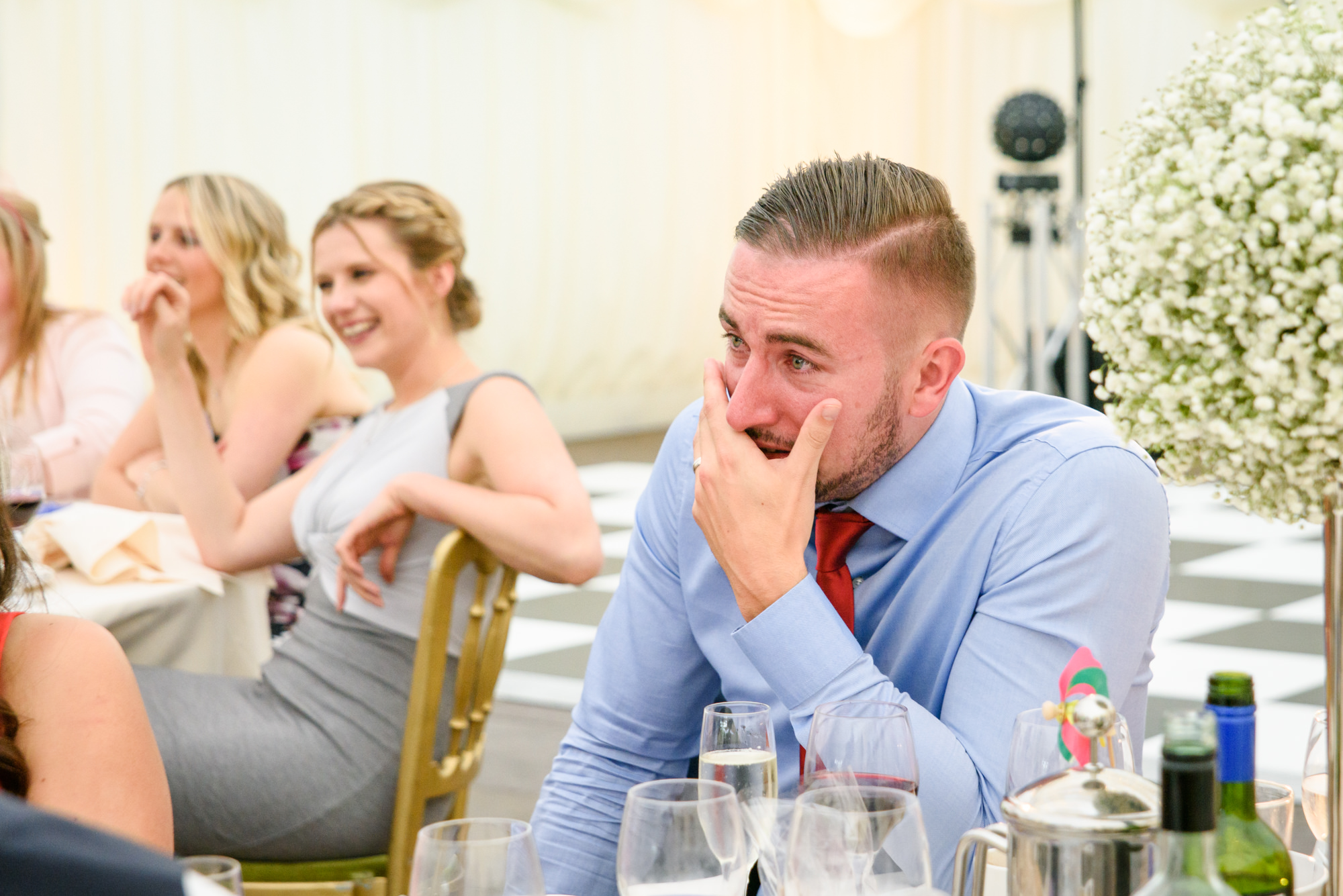 Guest crying during the speeches
