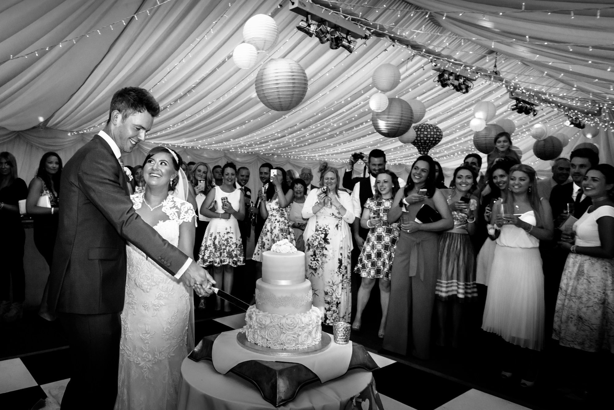 Cake cutting at The inn at Whitewell