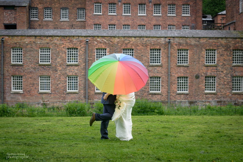 wedding at Quarry Bank Mill