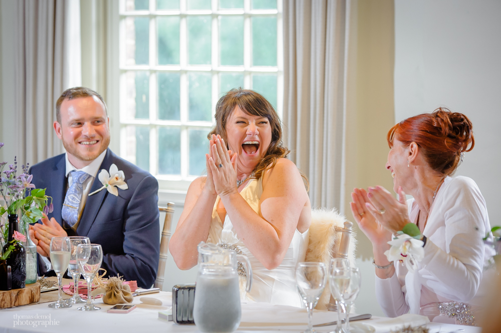 Wedding speeches at Quarry Bank Mill