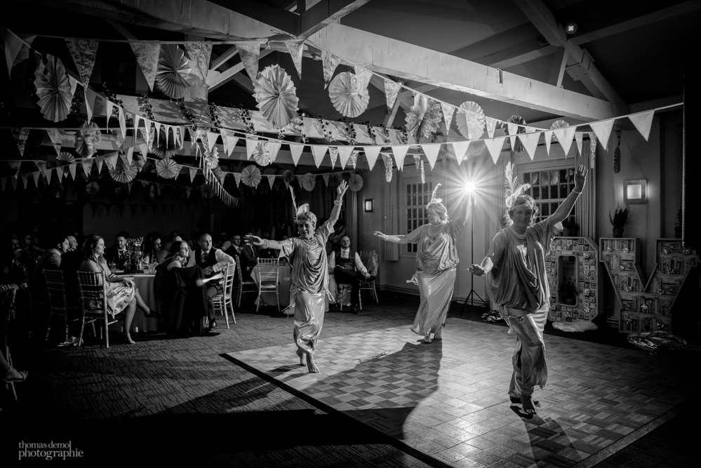 Wedding party with Belly dancers at Quarry Bank Mill