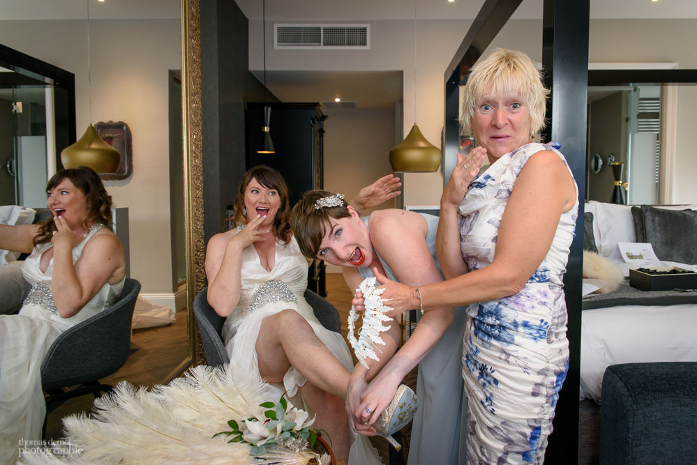 Bridal preparation at Oddfellows on the Park