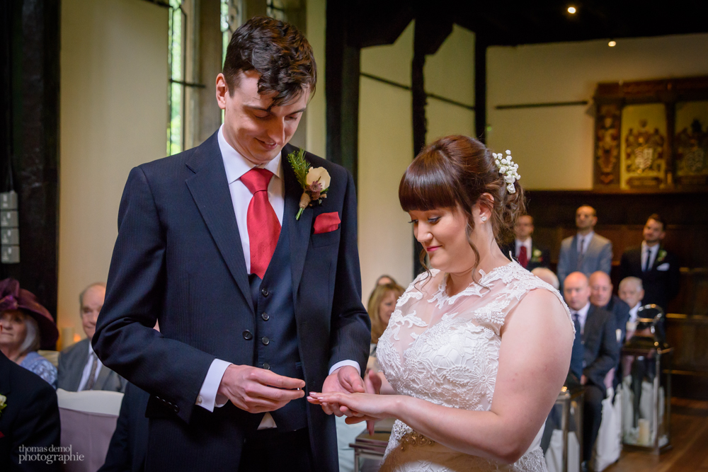 wedding ceremony at Samlesbury Hall