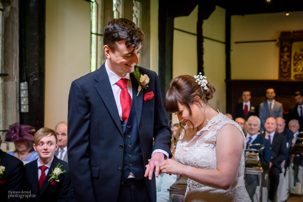 Ring exchange at Samlesbury Hall