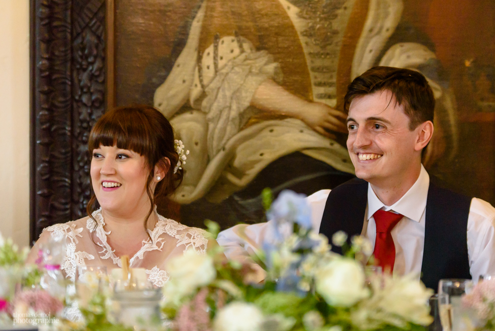Wedding speeches at Samlesbury Hall