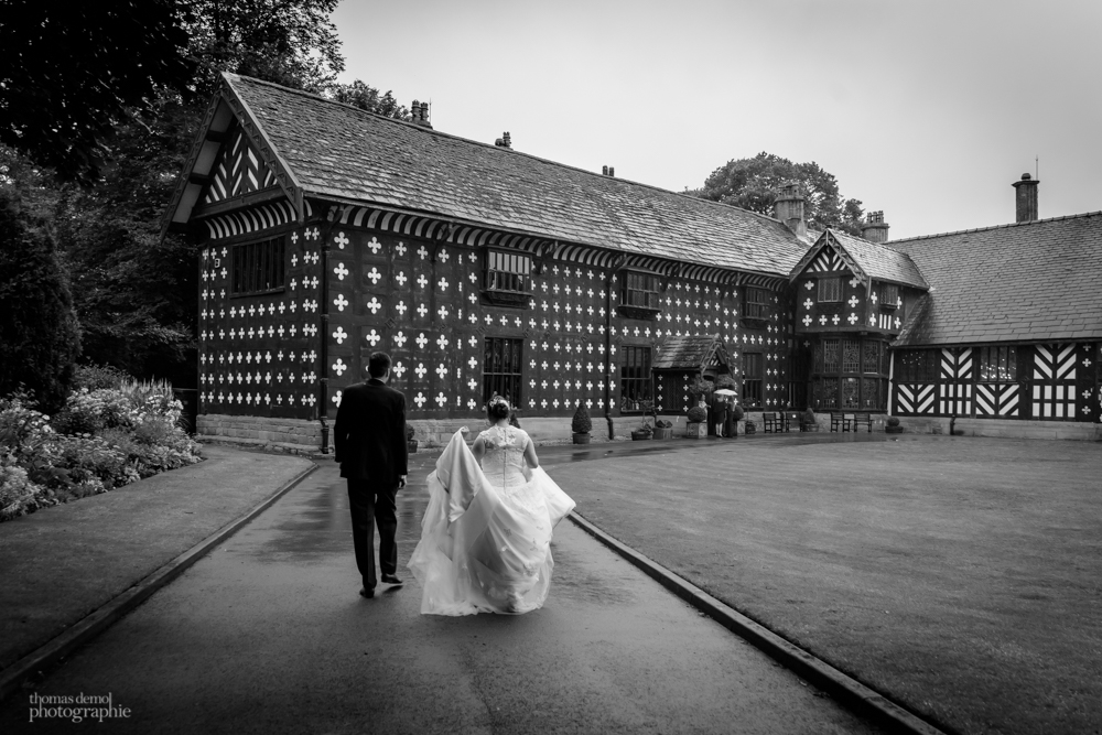 Bridal portrait at Samlesbury Hall