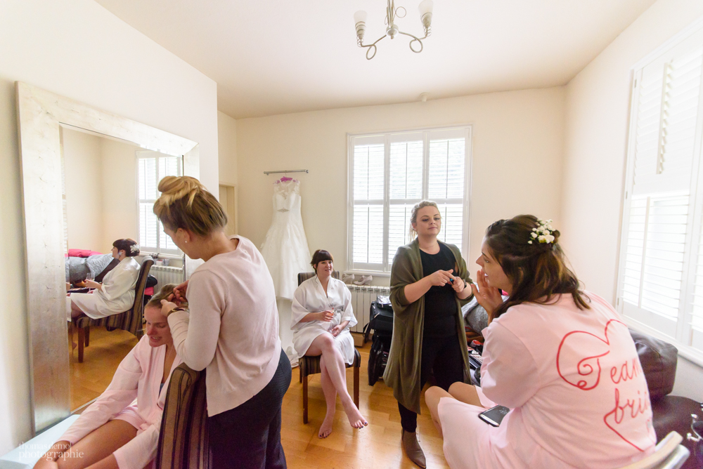 Bridal preparation at Samlesbury Hall