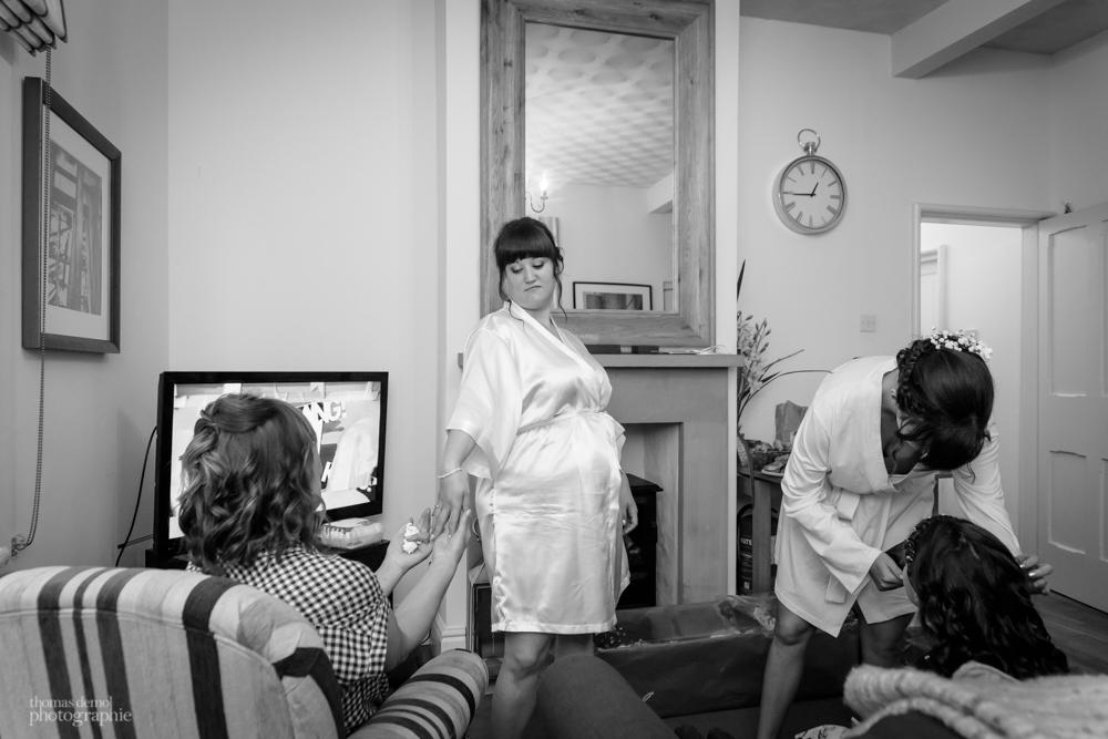 Bridal preparation at Samlesbury Hall