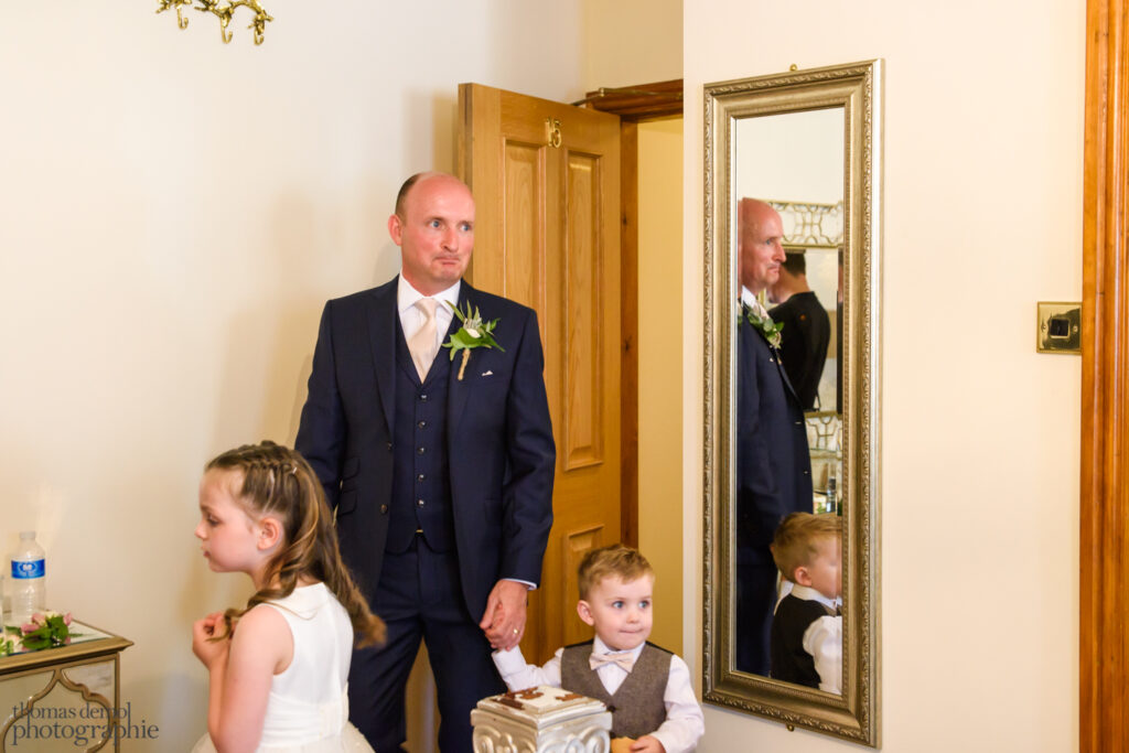 Father sees the bride for the first time - Beeston Manor