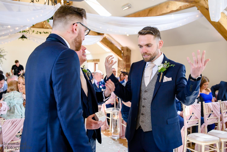 Wedding ceremony at Beeston Manor