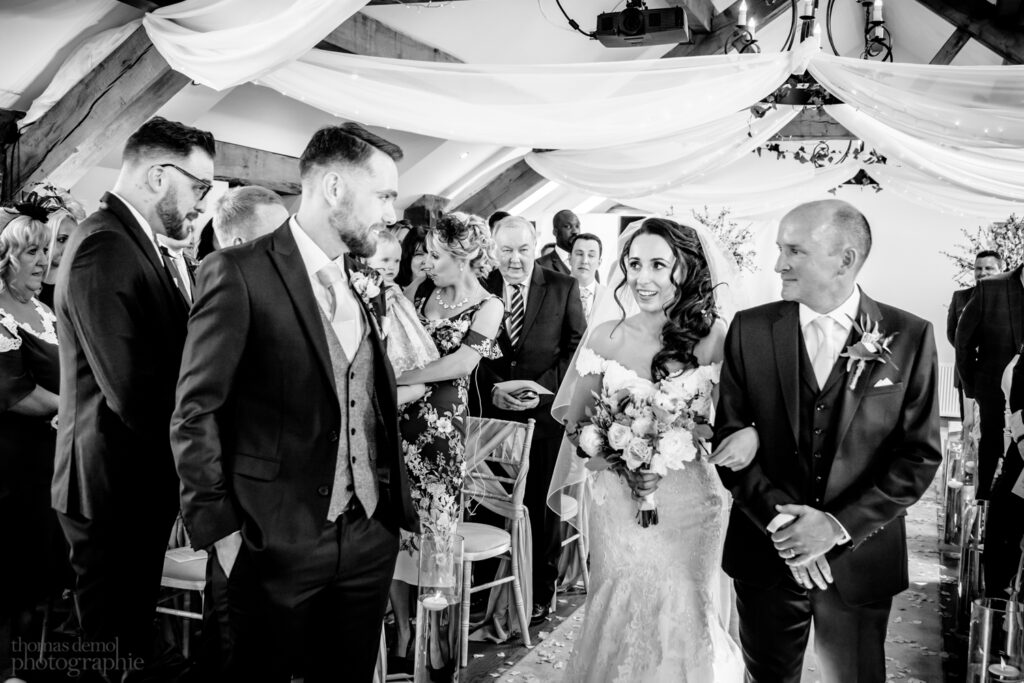 Wedding ceremony at Beeston Manor