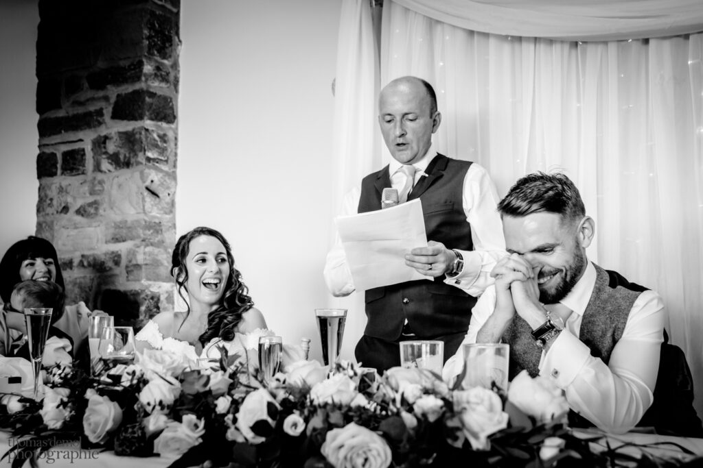 Wedding speeches at Beeston Manor