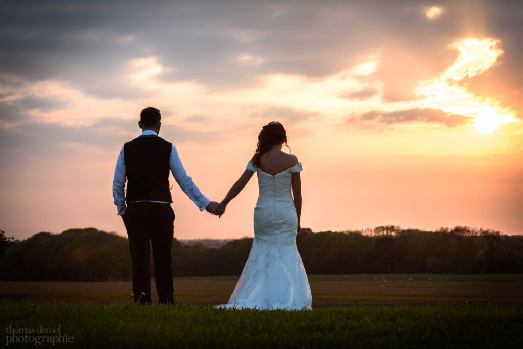 Wedding sunset at Beeston Manor