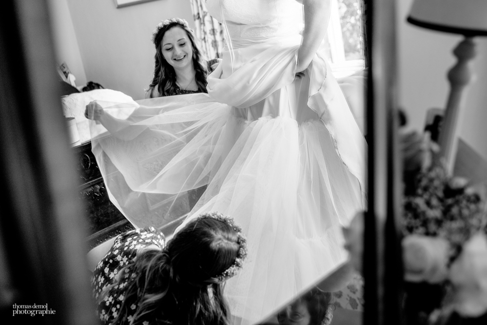 Bridal preparation at Talton Lodge