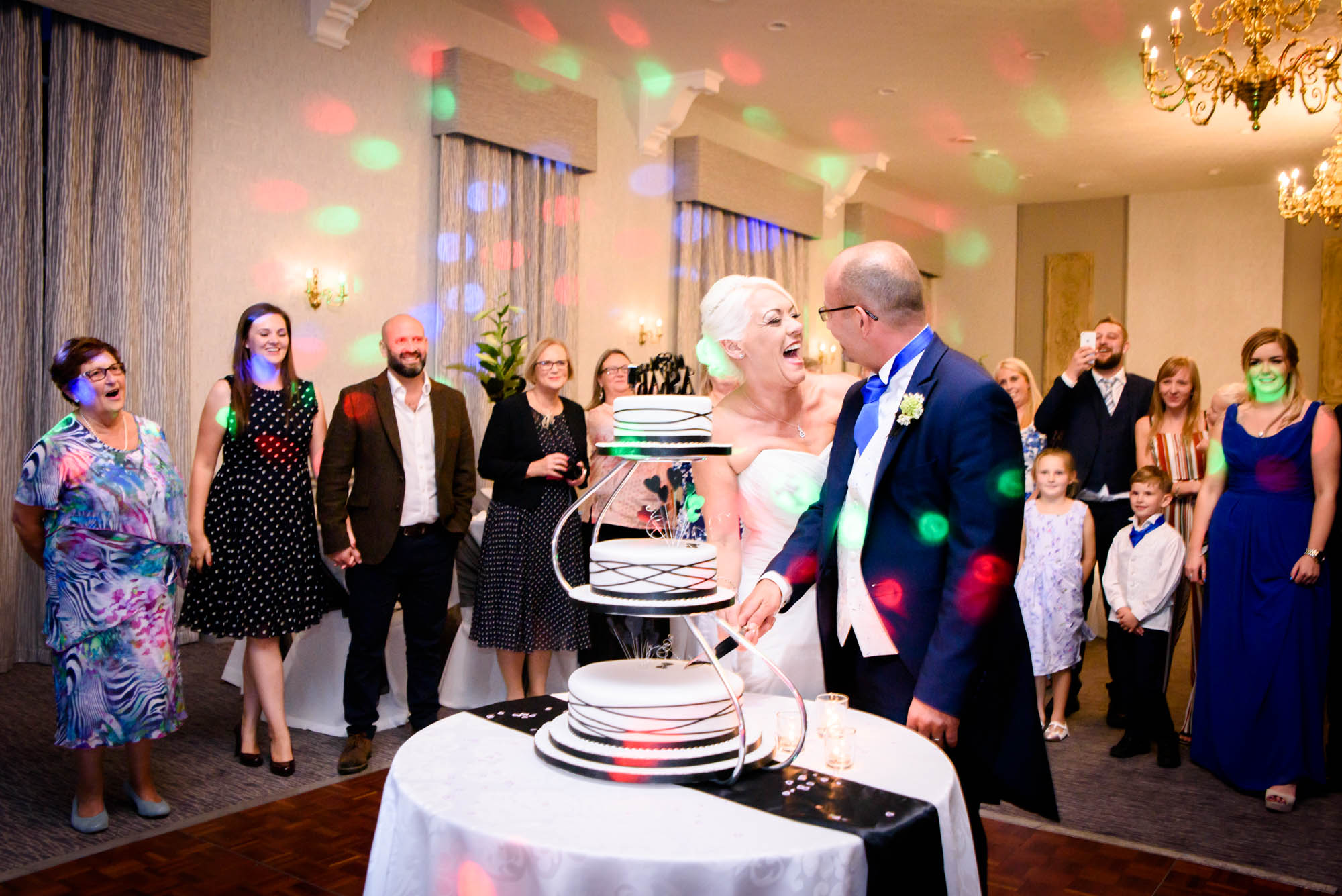 Cutting of the cake at Shrigley Hall