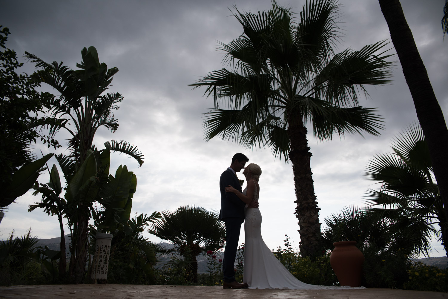 Bride and Groom portrait at La Vinuela