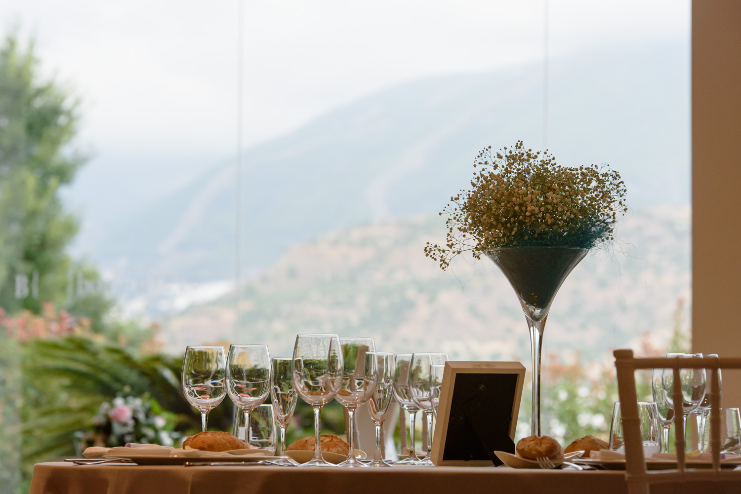 wedding tables at la Vinuela