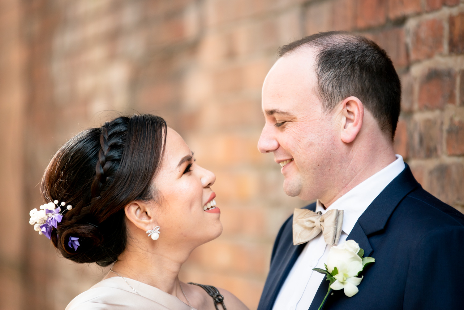 brida and groom portrait