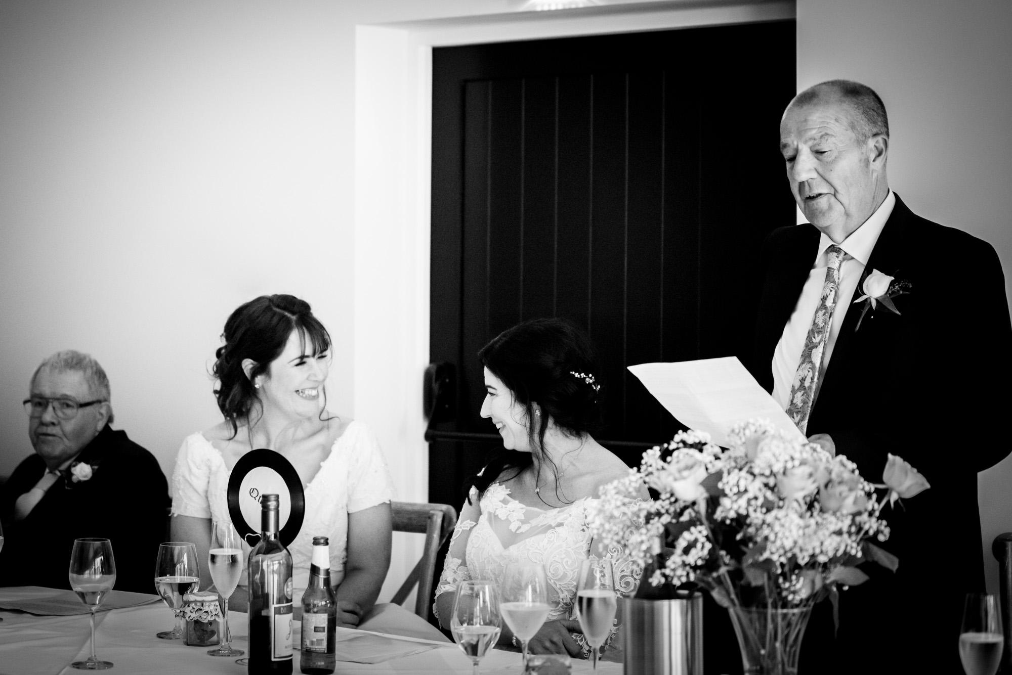 Dad speech at Hanbury Wedding Barn