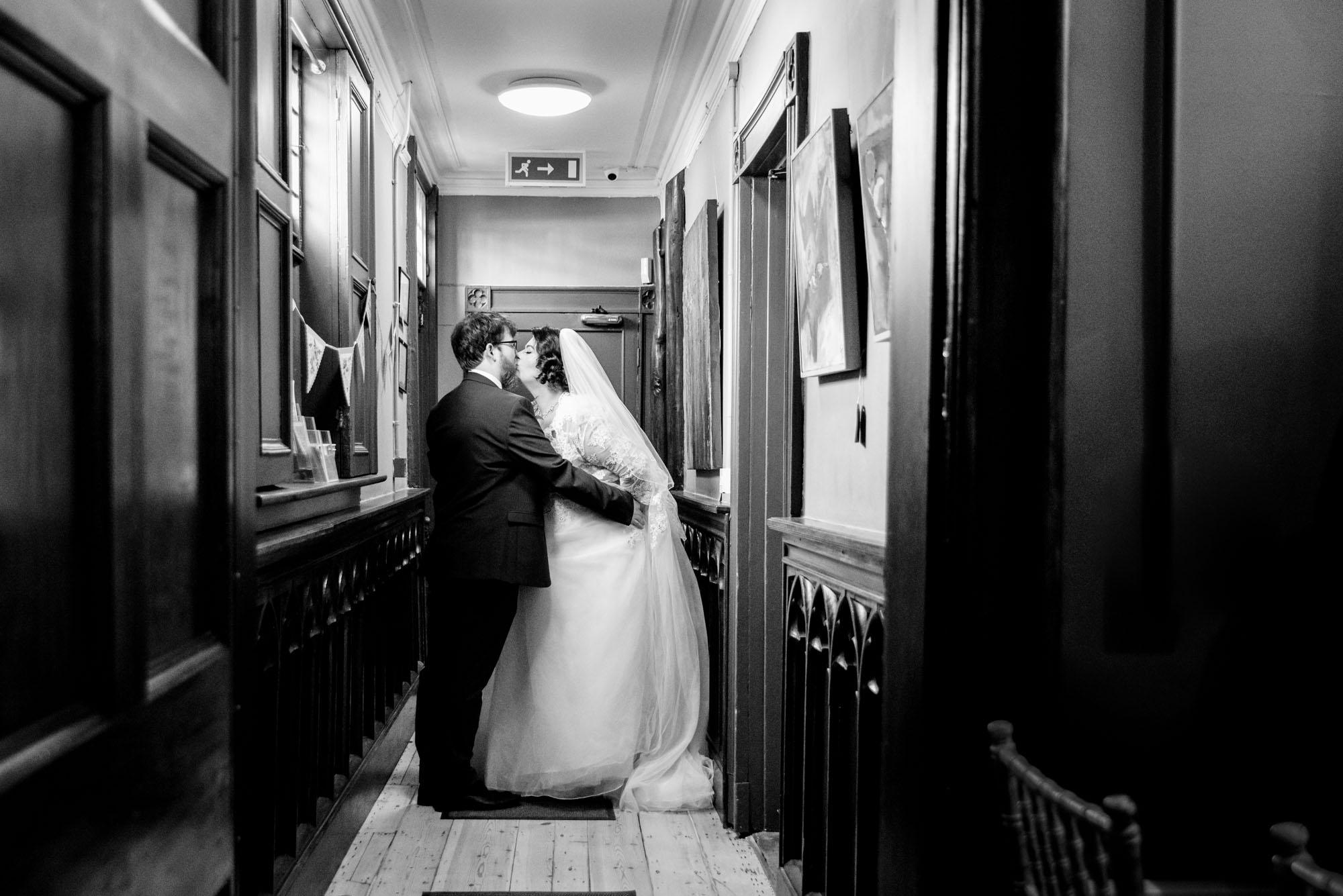 Kissing in the corridor