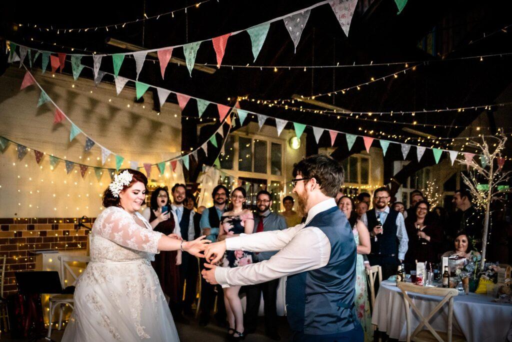 bride twisting