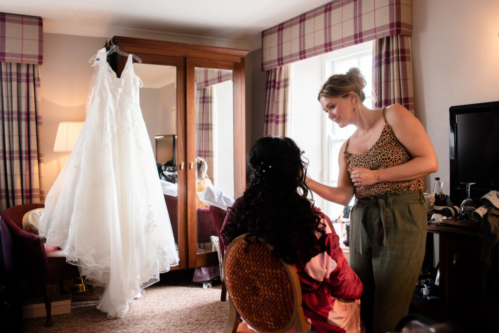 bridal prep room Shrigley Hall