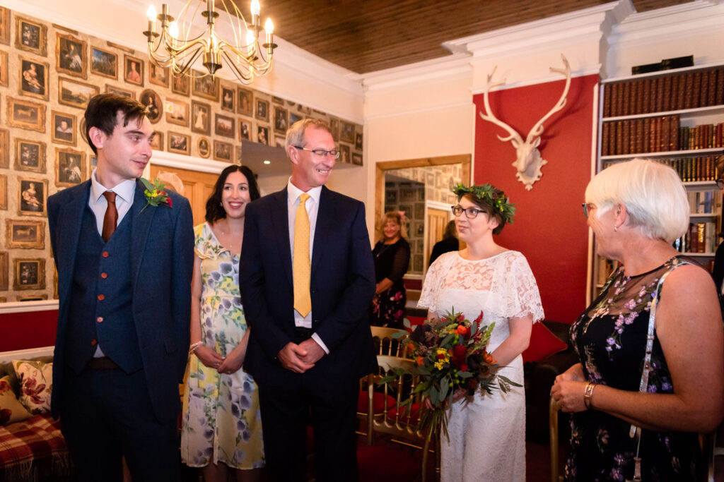 Hargate hall ceremony upstairs
