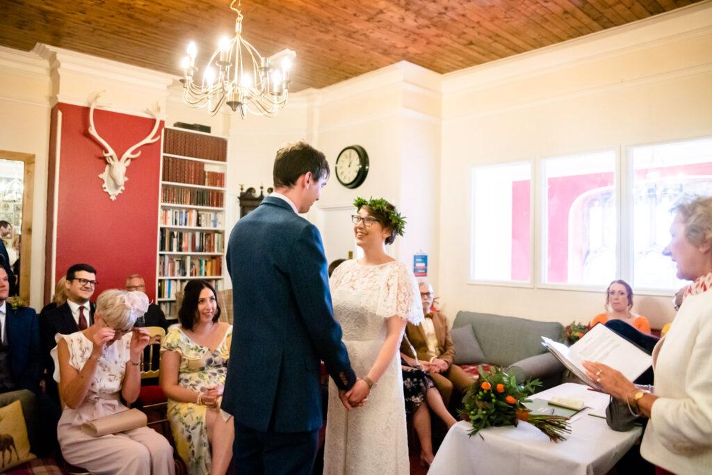 ceremony with the registrar