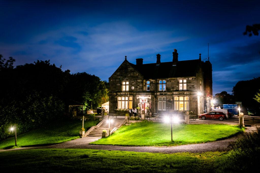 Hargate Hall at night