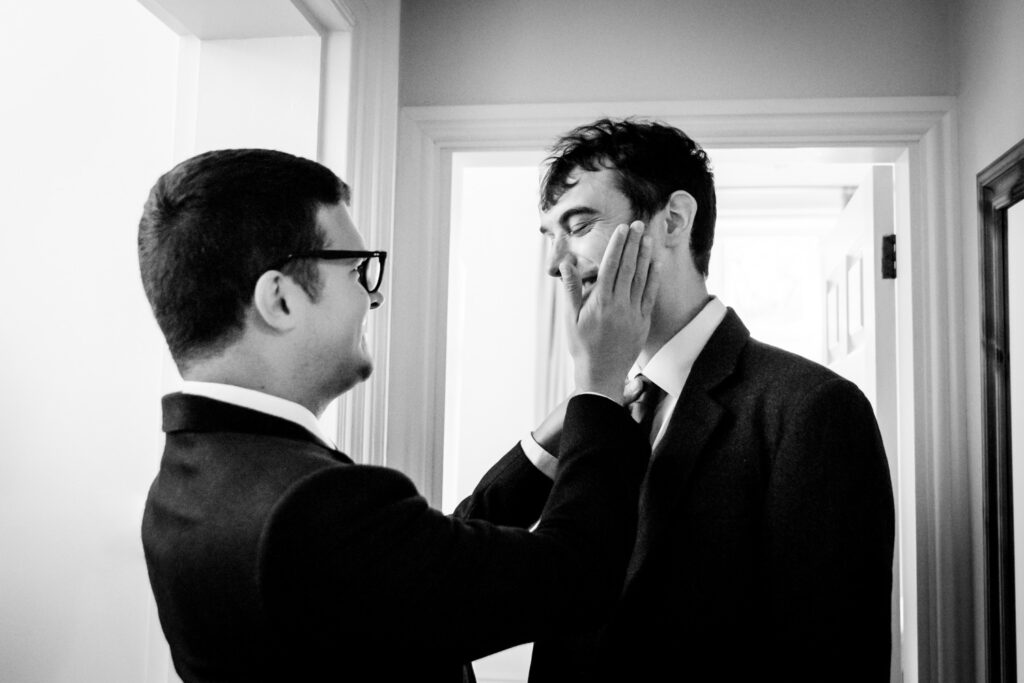 bestman slapping the groom