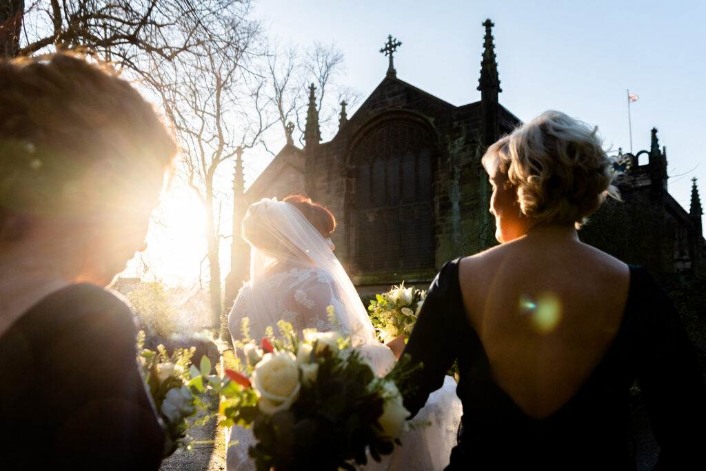 Wedding at The church of St James in Didsbury