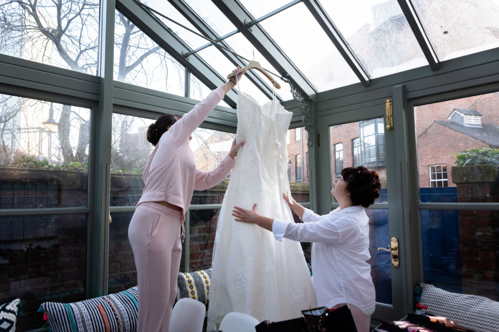 hanging the dress
