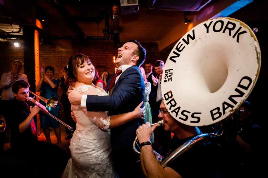 First dance with the New York Brass Band