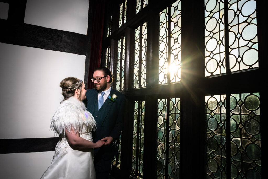 Portrait inside Bramall Hall