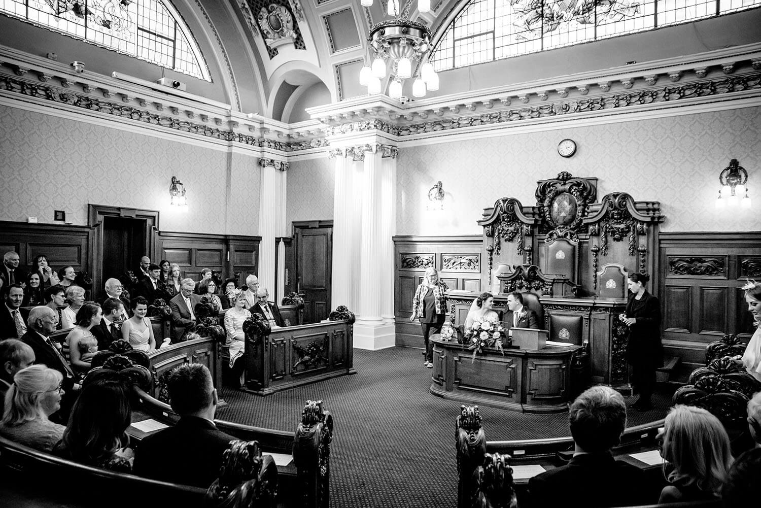 Council chamber wedding