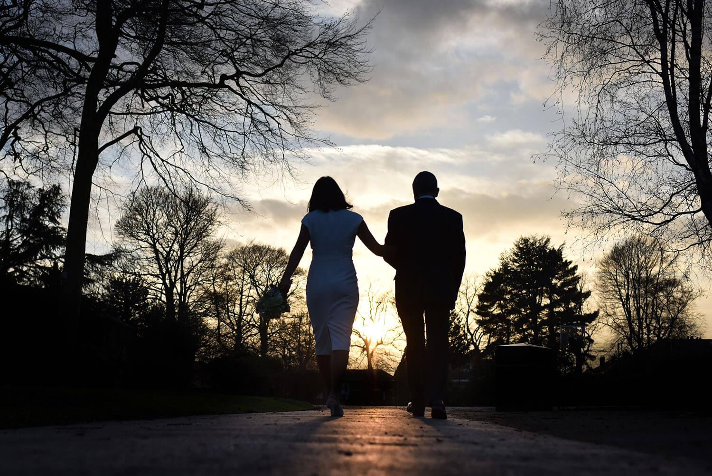 Wedding portrait in Alexandra Park