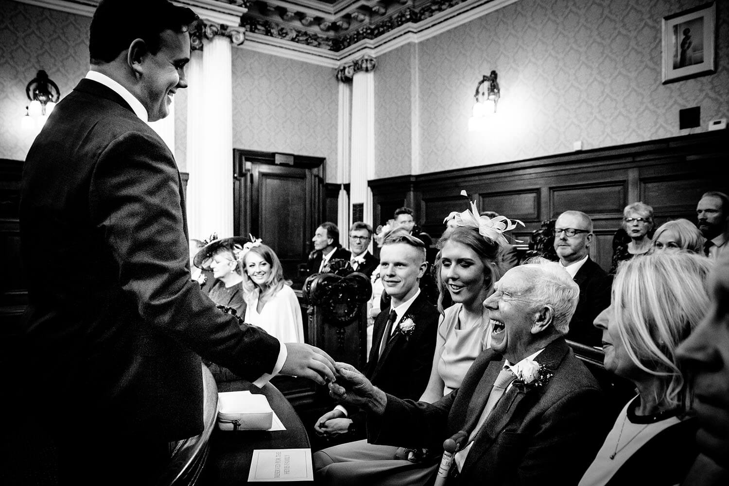 Wedding in Council chambers
