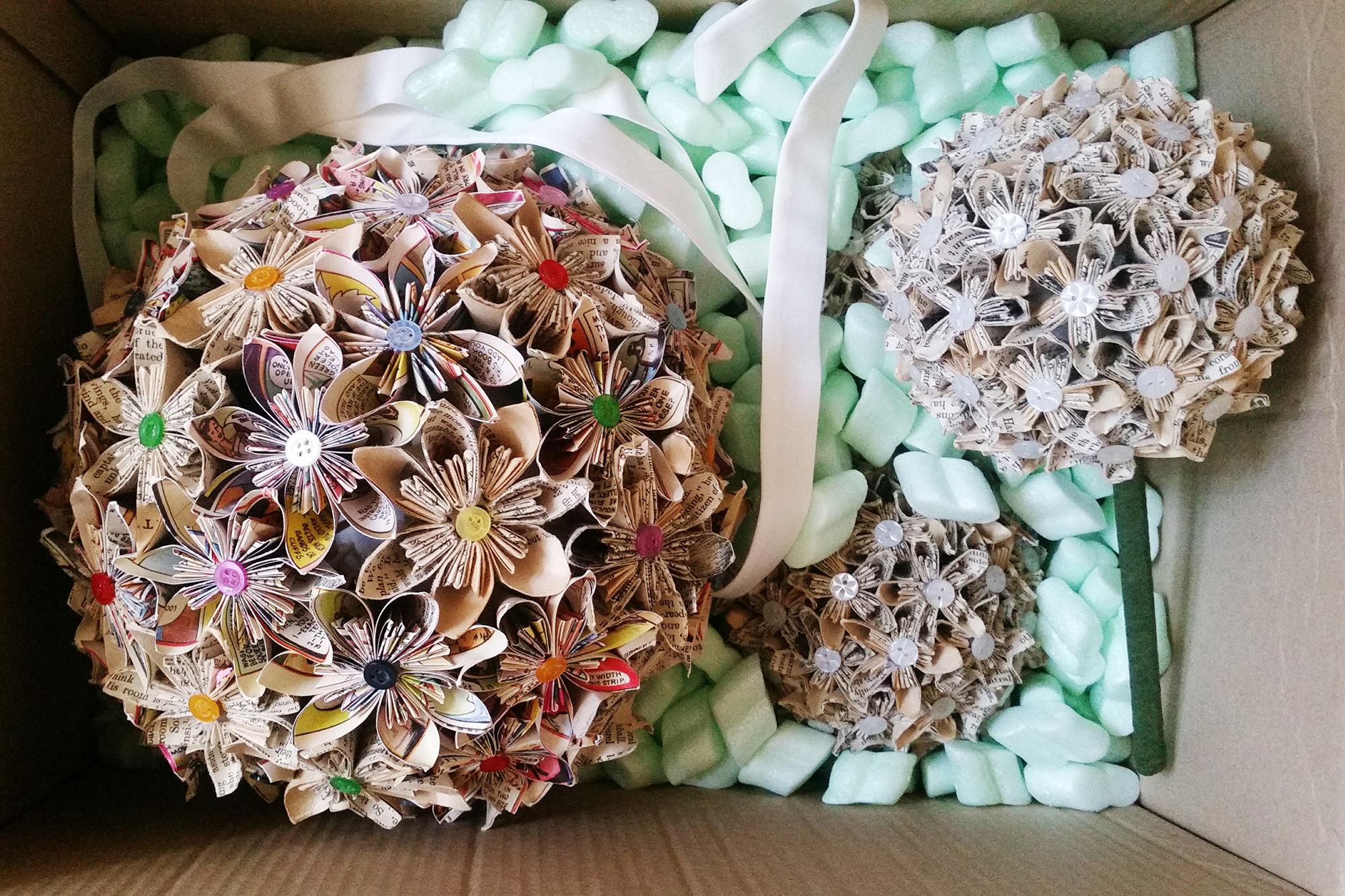 DIY paper wedding bouquets