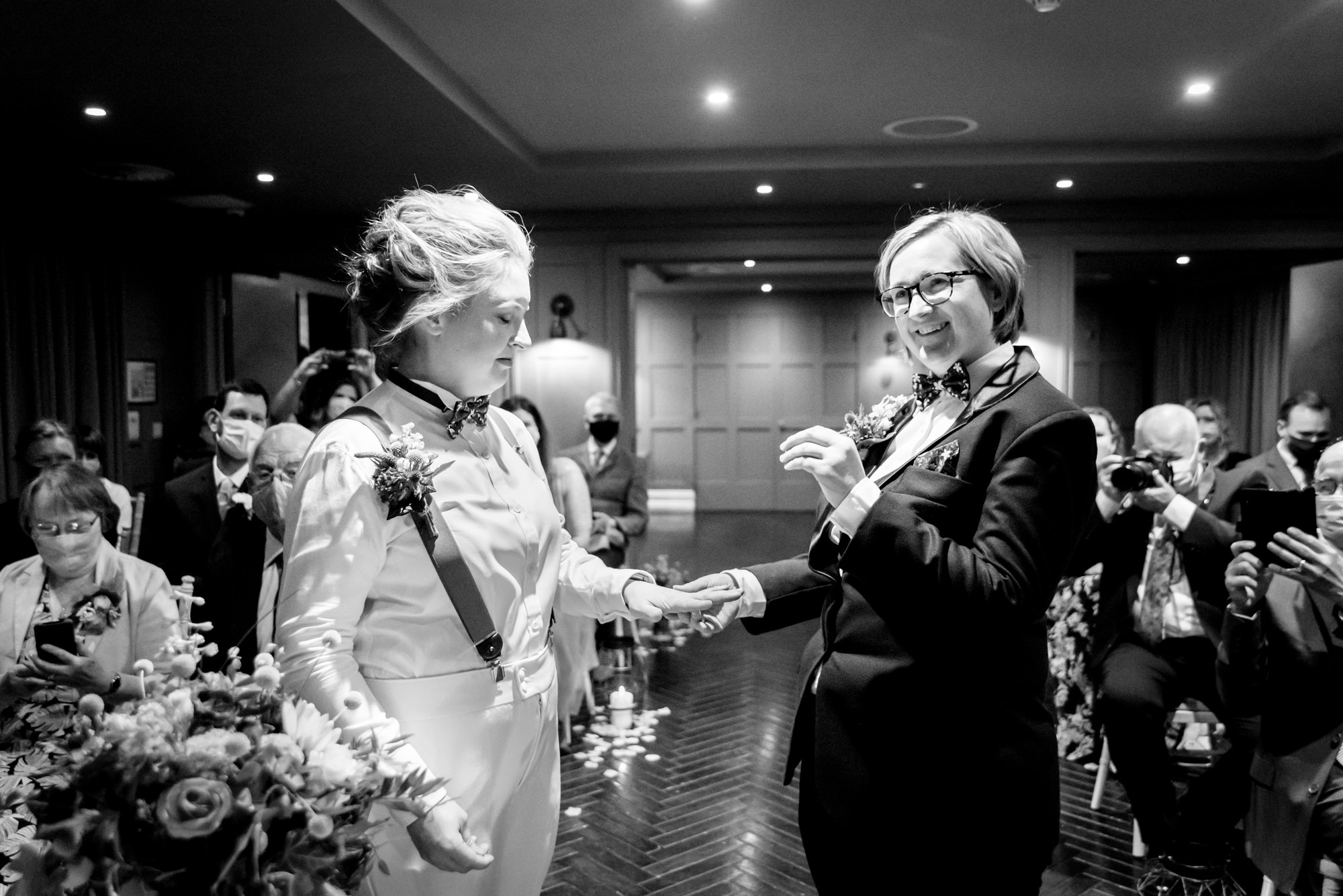 Exchanging the rings at King Street Townhouse