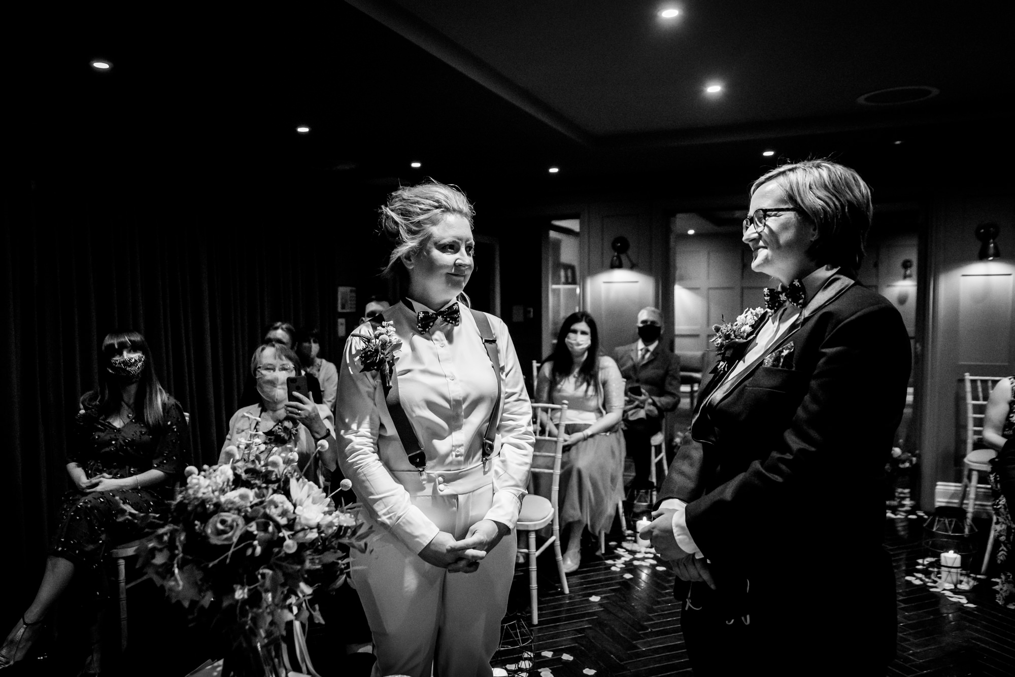 Brides exchanging the vows at King Street Townhouse